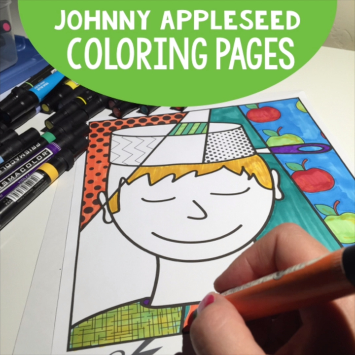 Johnny Appleseed Coloring Pages - Best Coloring Pages For Kids   720x720
